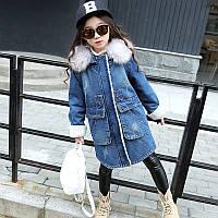 Зимняя джинсовая куртка для девочки Поля