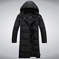 Зимняя куртка-пальто удлиненная, спортивная непромокаемая, утеплитель зима до минус -25, фото 1