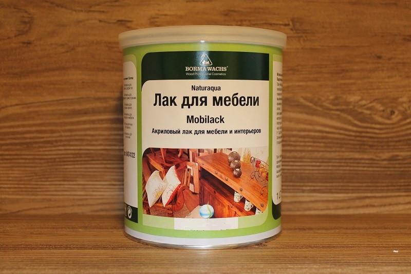 Акриловый лак для деревянных изделий, Naturaaqua Mobilack, Borma Wachs, Decoration Line, 50-60% Gloss, 1 литр