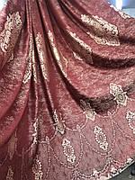 Портьеры шторы в зал спальню турецкого качества  Цвет: Бордовый №2211