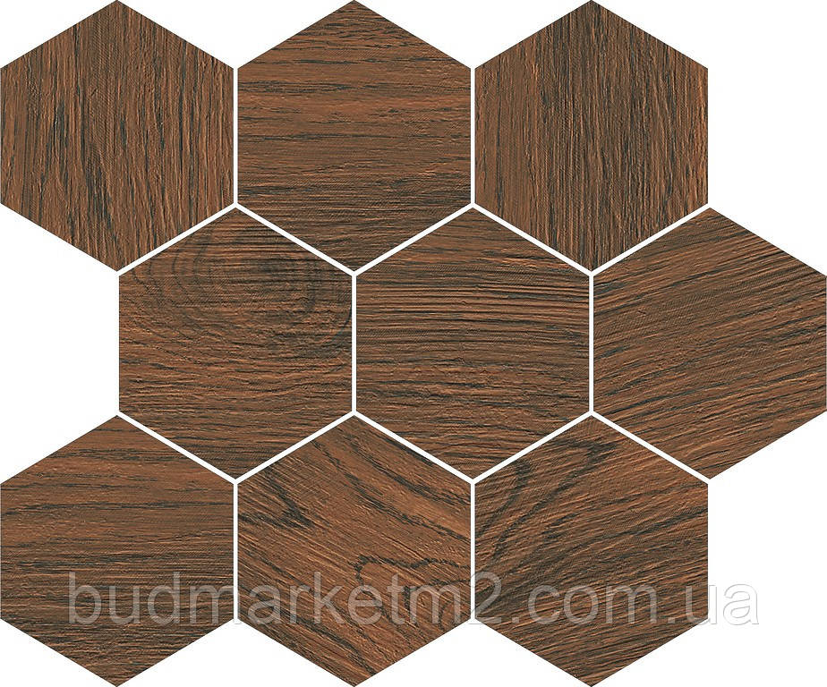 Плитка Opoczno FLAKE FINWOOD OCHRA MOSAIC HEXAGON 28 x 33,7