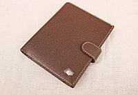 Мужское кожаное портмоне Hassion коричневое 135-02, фото 1