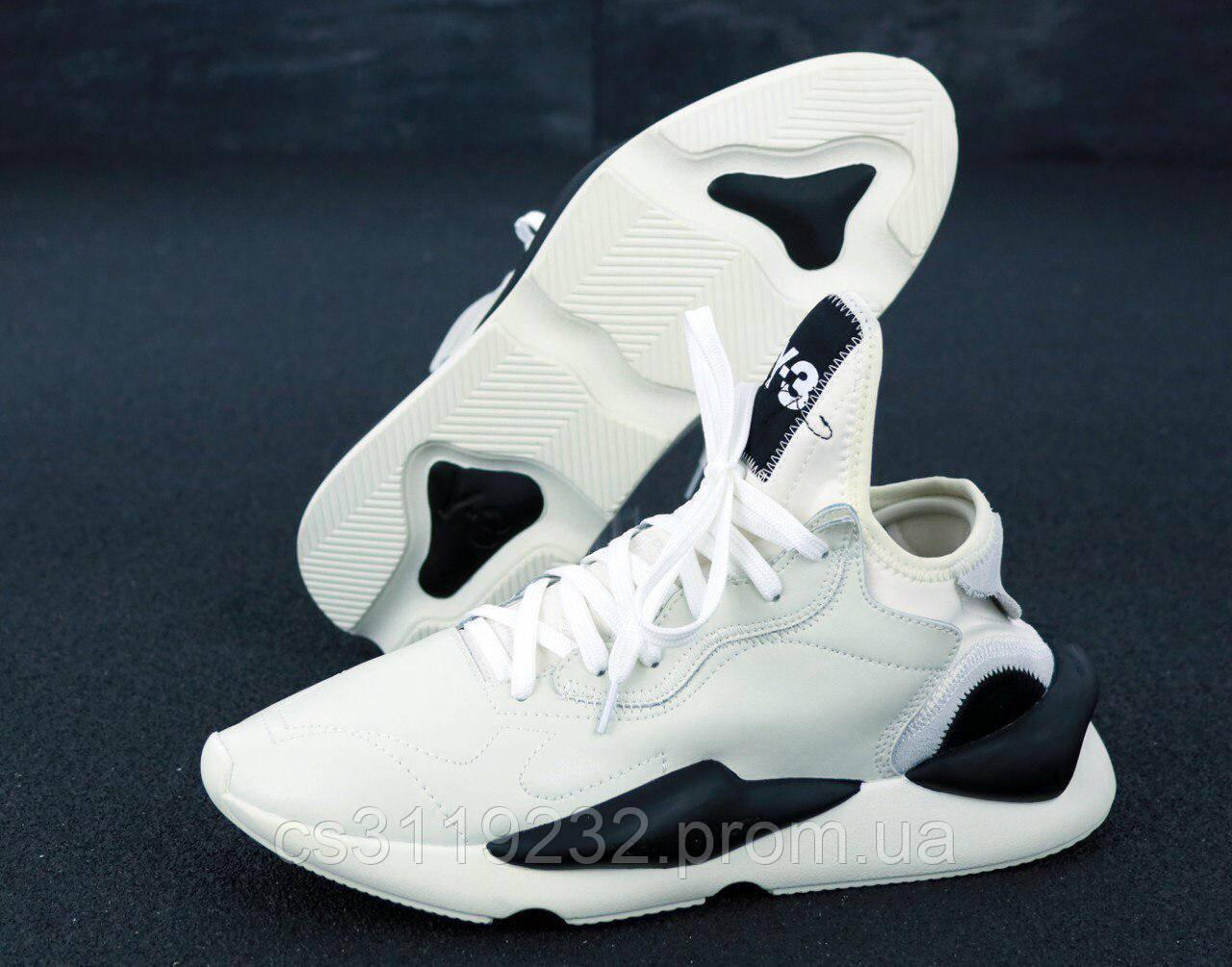 Мужские кроссовки Adidas Yohji Yamamoto Y-3 Kaiwa (белые)