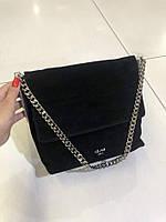 Женская кожаная сумка Замш + натуральная кожа