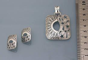 День и ночь. Серьги из серебра 925 пробы ., фото 2
