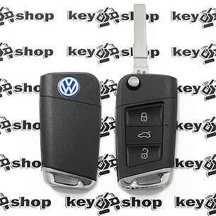 Ключ Volkswagen (корпус Фольксваген) - 3 кнопки, лезвие HU 66 (Под переделку), фото 2