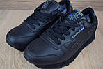Мужские зимние кроссовки Reebok Classic (черные), фото 8