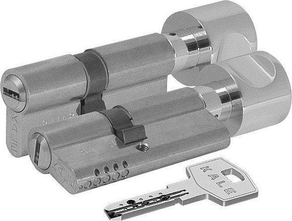 Циліндровий механізм латунний Kale 164 OBS-РА 70 mm 30 * 10 * 30 з вертушкою нікель
