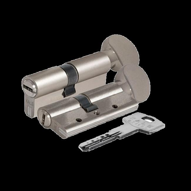 Цилиндровый механизм латунный Kale 164 DBNЕМ 90 mm 40 * 10 * 40 с вертушкой никель
