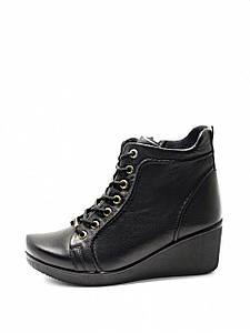 Ботинки женские демисезонные ботинки на танкетке осень весна из натуральной кожи 37 размер