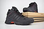 Чоловічі зимові кросівки Adidas Climaproof (чорно-червоні), фото 3