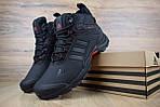 Мужские зимние кроссовки Adidas Climaproof (черно-красные), фото 5