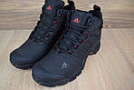 Мужские зимние кроссовки Adidas Climaproof (черно-красные), фото 9