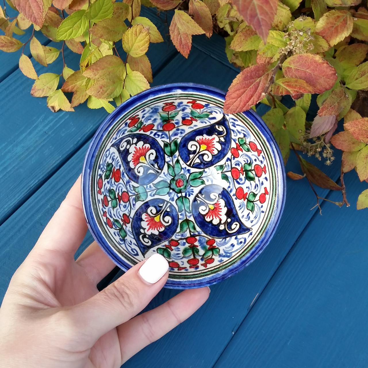 """Узбекская пиала """"Гранат"""" ручной работы d 11 см. Керамика"""