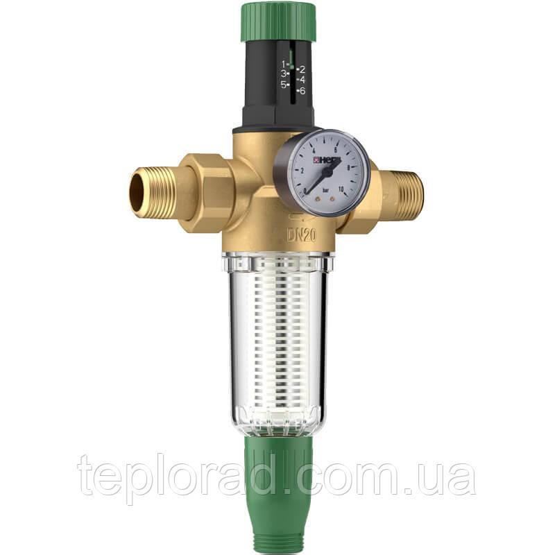 """Регулятор давления воды с фильтром Herz DN15 1/2"""" для холодной воды (2301101)"""