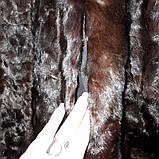 Норкова шуба кожушок куліска англійський комір натуральна норка лобики розмір 48 в кредит, фото 6