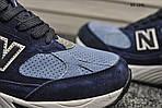 Чоловічі кросівки New Balance 991 (сині), фото 4