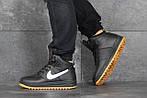 Чоловічі зимові кросівки Nike Lunar Force 1 (чорно-білі), фото 2