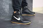 Чоловічі зимові кросівки Nike Lunar Force 1 (чорно-білі), фото 3