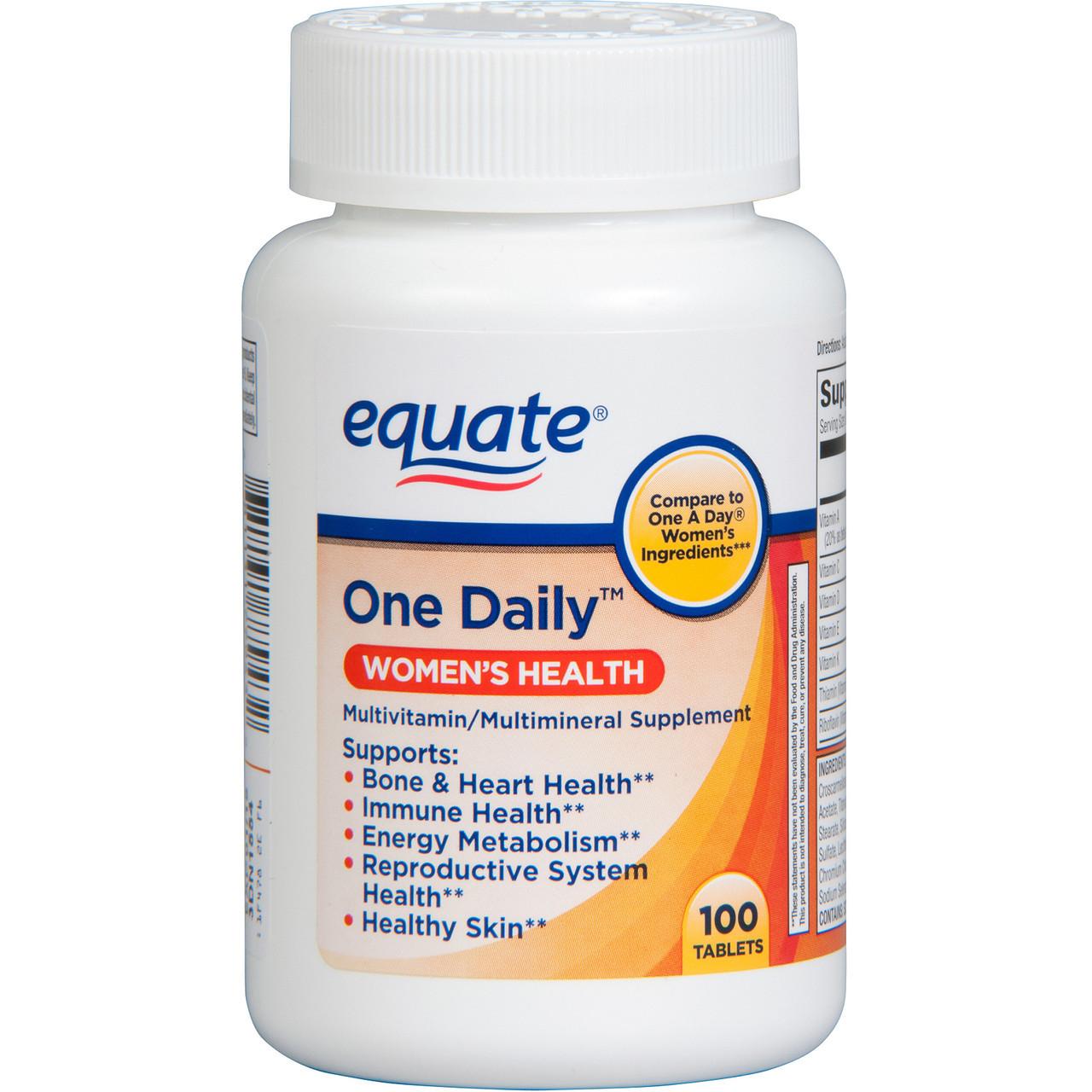 """Мультивитамины для женщин Equate """"Одна штука в День"""", (200 таблеток)"""