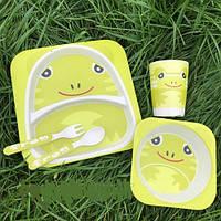 """Детская посуда для кормления из бамбука """"Лягушка"""", фото 1"""
