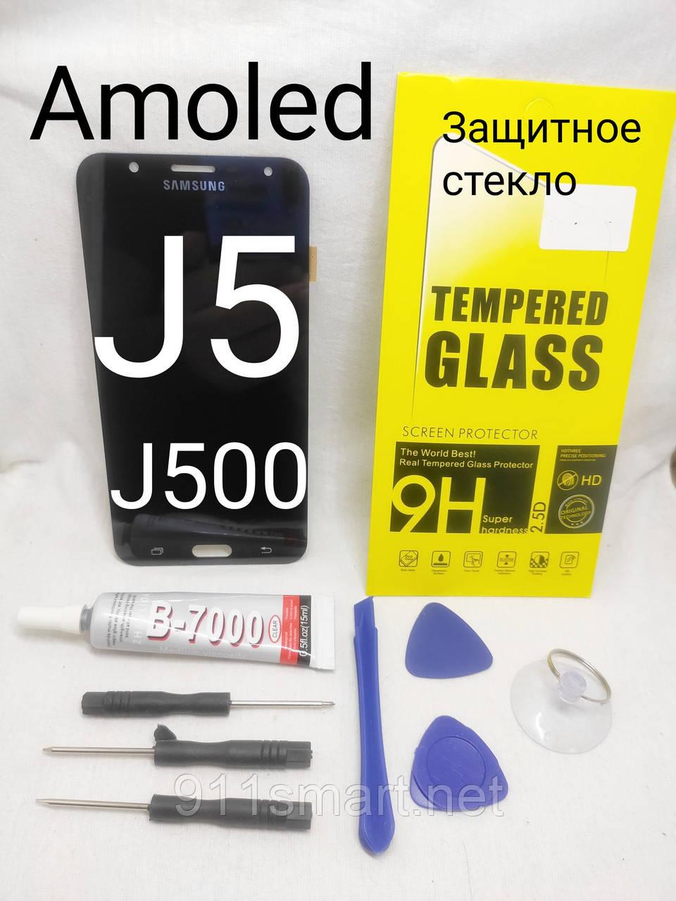 Дисплей + сенсор amoled LCD модуль Samsung J500H