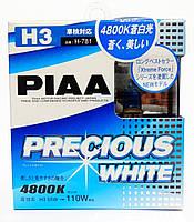 Автолампы PIAA Precious White H3, ☀ 4800K, комплект 2шт