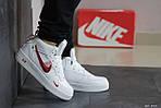 Мужские кроссовки Nike Air Force (бело-красные) ЗИМА, фото 2