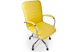 Кресло офисное винтажное компьютерное для персонала Barsky / Барски Vintage / Винтаж Жетлое / Yellow BVchr-06