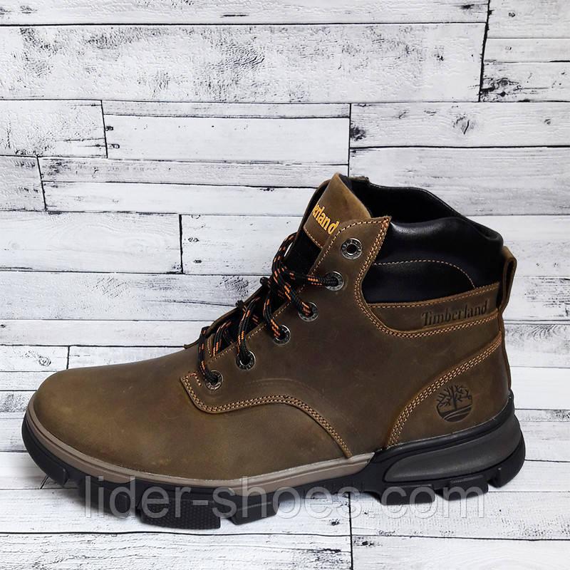 Ботинки мужские коричневого цвета