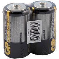 Батарейка GP SUPERCELL 1.5V, 14S-S2, R14, C солевая, цена за 2шт (007989)