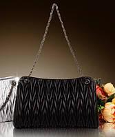 Женская стеганая сумка из натуральной кожи Миами, фото 1