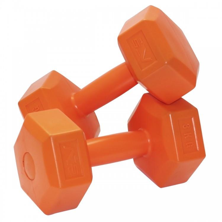 Гантели виниловые SportVida 2 x 3 кг для фитнеса, атлетики и спорта