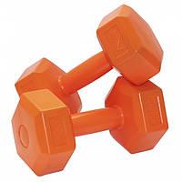 Гантели виниловые SportVida 2 x 3 кг для фитнеса, атлетики и спорта, фото 1
