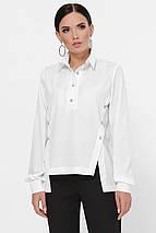 Женская однотонная асимметричная рубашка (Olga fup), фото 3