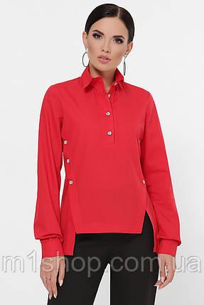 Женская однотонная асимметричная рубашка (Olga fup), фото 2