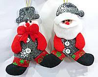 """Елочное украшение """"Санта и снеговик"""" 15 см, 12 шт."""