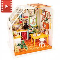 Набор для творчества Мини-интерьерная модель ручной работы «Кухня» Robotime