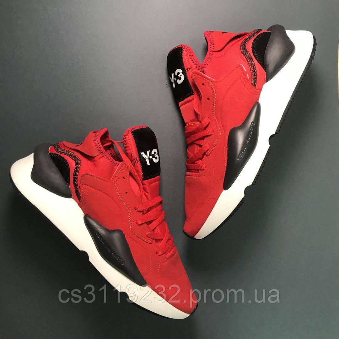 Мужские кроссовки Adidas Yohji Yamamoto Y-3 Kaiwa (красные)
