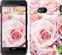"Чехол на HTC One M7 Розы ""525c-36"""