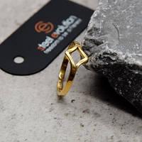 Фаланговое кольцо из медицинского золота 7 мм 172440