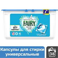 Капсулы для стирки универсальные Fairy 3-в-1 Non Bio, 38 шт.