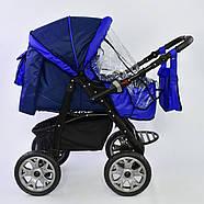 Детская коляска-трансформер Viki 86 - С 05 Синий электрик Гарантия качества Быстрая доставка, фото 4