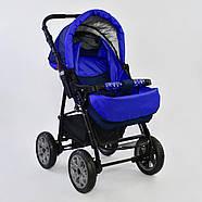 Детская коляска-трансформер Viki 86 - С 05 Синий электрик Гарантия качества Быстрая доставка, фото 5