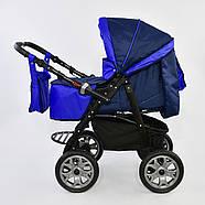 Детская коляска-трансформер Viki 86 - С 05 Синий электрик Гарантия качества Быстрая доставка, фото 6