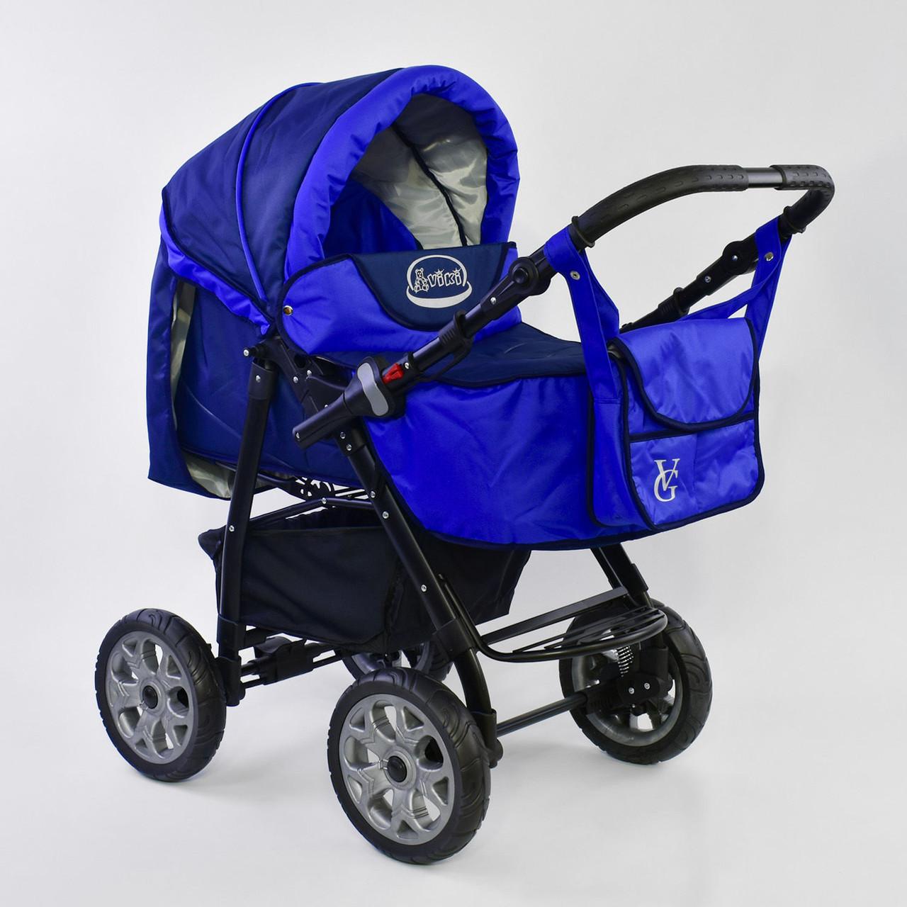 Детская коляска-трансформер Viki 86 - С 05 Синий электрик Гарантия качества Быстрая доставка
