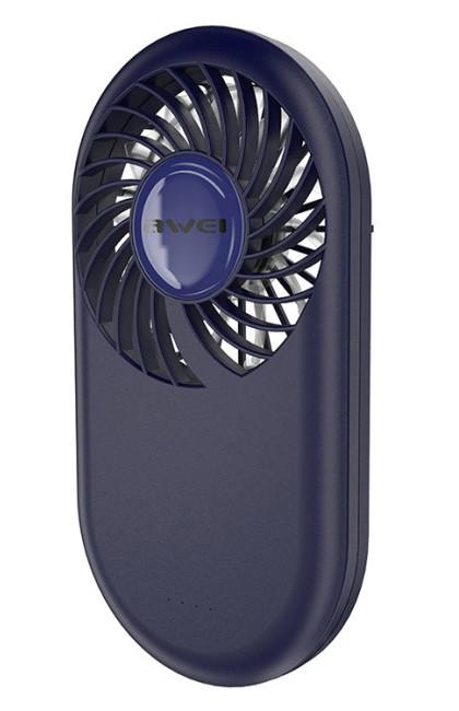 Портативный мини вентилятор AWEI F3 Fan Темно-синий (F3-BLUE047777)