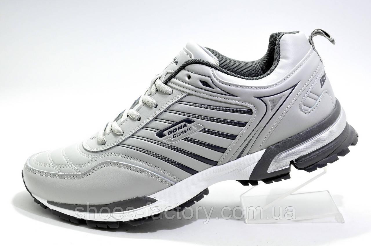 Мужские кроссовки Bona 2020, Gray\Серые (кожаные)