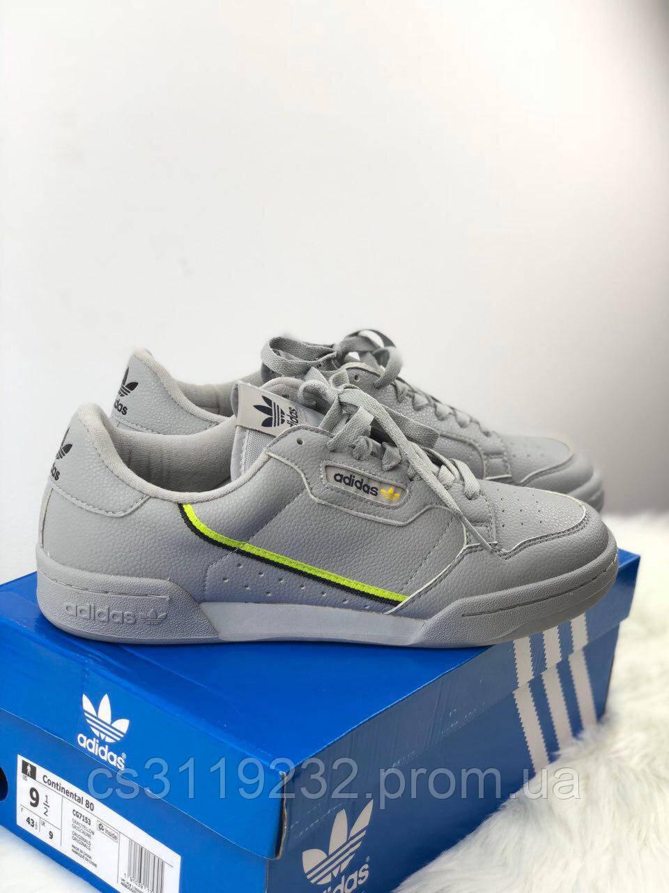 Мужские кроссовки Adidas Originals Continental Rascal Grey (серые)