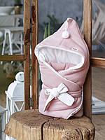 "Конверт-одеяло ""Гномик"", на трикотаже, пудровый, фото 1"